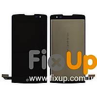 Дисплей LG H320, H324, H340, MS345 Y50 Leon с тачскрином в сборе, цвет черный, копия высокого качества