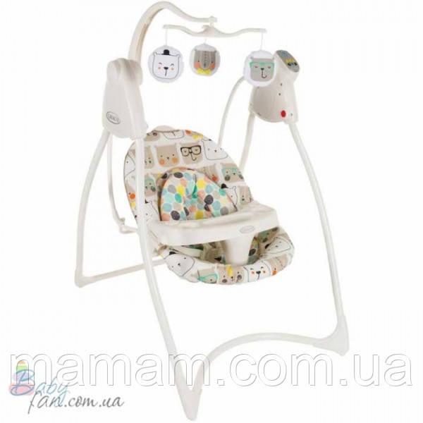 Кресло-качалка Graco Lovinhug (с подключением в электросети) Bowtie Bear - Интернет-магазин товаров для детей BabyFan.com.ua в Николаевской области