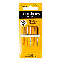 Ball Point Sewing Machine №11(80) (5шт) Набор машинных игл Трикотаж John James (Англия) JJ36011