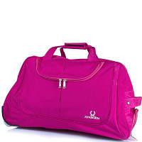 Большая дорожная сумка xingruida ds003-13 розовая на 2-х колесах с выдвижной ручкой