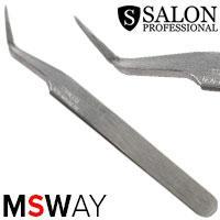 Salon Prof. Пинцет для наращивания ресниц длинный загнутый 43074