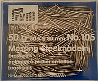 Булавки портновские швейные №105 30х0,80 мм. 50 грамм уп. Серебро. PRYM, фото 1