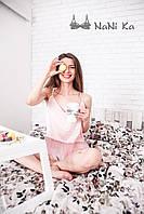 Розовая пижама Sinderella шелк фатин