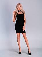 Платье с пряжкой на шее без бретелек 38-50 размеры