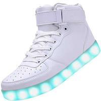 LED кроссовки Simulation Белые унисекс, 11 режимов подсветки, шнурок, размер 37-41 37