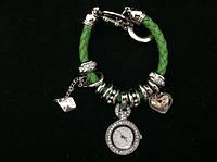 Женские часы-браслет Pandora Пандора (зеленые)