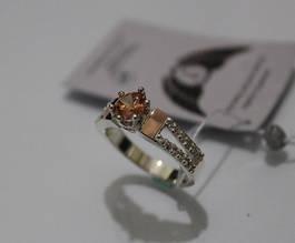 Серебряное кольцо с вставкой золота ch0010