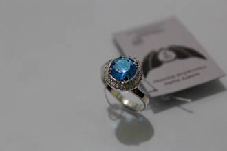 Серебряное кольцо с золотой вставкой ch0011