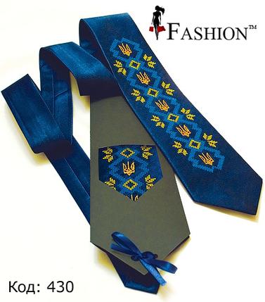 Трендова чоловіча краватка Тризуб, фото 2