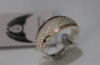 Серебряное кольцо с золотыми вставками Ch0022