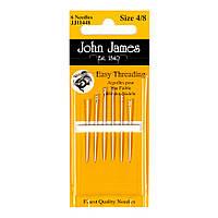 Easy Threading №4/8 (6шт) Набор легкоодеваемых игл для шитья John James (Англия) JJ11448