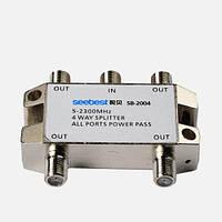 Разветвитель на 4 выходa 5-900Mhz AIO-T041