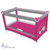 Манеж кровать Baby Design Simple New Pink 08