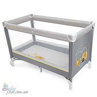 Манеж кровать Baby Design Simple New Grey 07