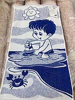 Полотенце махровое Бумажный кораблик 50×90