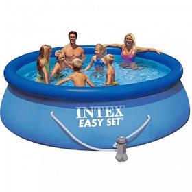 Надувной бассейн Easy Set Intex + насос фильтр, 366х91 см
