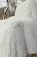 Ворсистые мягкие плед-покрывала с длинным ворсом Белый