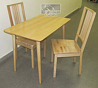 Обеденный стол + два стула