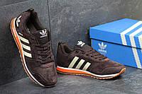 Мужские кроссовки ADIDAS, замшевые, коричневые / кроссовки для бега мужские АДИДАС, стильные, 2017