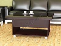 Стол трансформер журнальный обеденный Марсель (стекло)