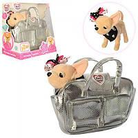 Интерактивная собачка Кикки 3483 с модной сумочкой: 22см, звук (украинский)