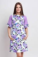 Платье летнее с шифоновым рукавом П183