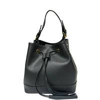 Женская  сумка из натуральной кожи фабричная (отшита  в Италии) серого цвета, на одну ручку