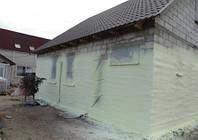 Утепление стен и перекрытий напылением пенополиуретана