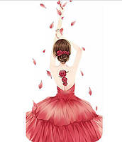 Прима-балерина 5Д (частичная выкладка) 29*14 см