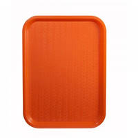 Поднос пластмассовый для фаст-фудов 30х40см, оранжевый