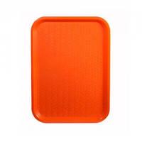 Поднос пластмассовый для фаст-фудов 35х45см, оранжевый