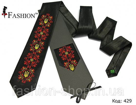 Вышитый галстук Свобода, фото 2
