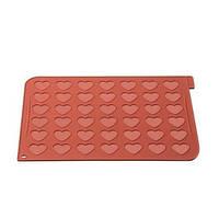 Коврик силиконовий для макаронс 300x400 mm, h 1,5 mm