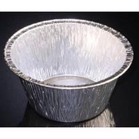 Контейнер алюминиевый круглый 87х38в мм 137 мл 100шт/уп