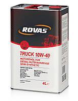 Полусинтетическое моторное масло Rovas Truck 10w-40 4L