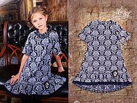 Платье текстиль, атлас жаккард, принт, декор.