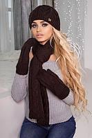 Комплект «Эрика» (шапка, шарф и варежки)