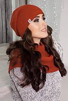 Комплект «Эмили» (шапка-колпак и шарф-хомут)