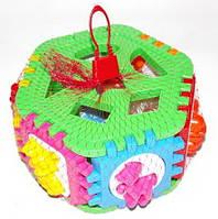 Куб-сортер с вкладышами буквы, животные