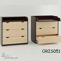 Комод - пеленатор Oris Natural/Colour на 3 ящика Комбинированный №1 (венге)