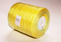 Лента органза желтая ширина 0.6 см, длина 45 м, цена 24 грн