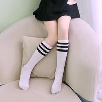 Гольфы - чулки для девочки белые с черными полосками