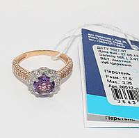 Золотое кольцо с аметистом 80512-ПАМ