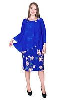 Женское платье из  креп-дайвинга и шифона