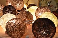 """Тайская гирлянда из хлопковых шариков """"Шоколадное настроение"""", фото 1"""