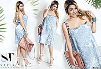 Ультрамодное платье миди на бретелях создает уникальный летний образ в стиле casual.