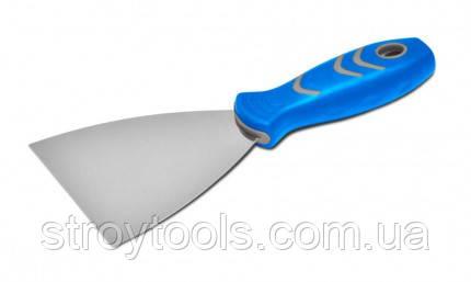 Шпательная лопатка стальная с нержавеющим покрытием,двухкомпонентная ручка Favorit,05-227,Киев., фото 2
