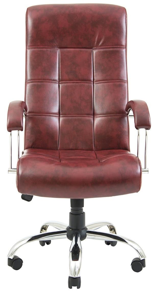 Кресло Вирджиния Хром бордовое (фото 2)