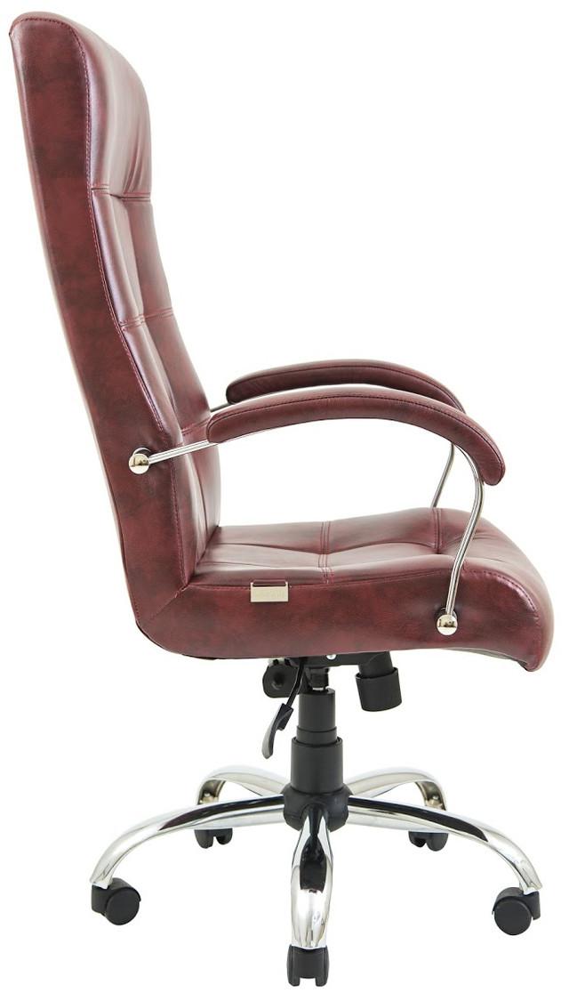 Кресло Вирджиния Хром бордовое (фото 3)