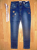 Джинсовые брюки  для девочек оптом, Seagull, 134-164 рр., фото 1